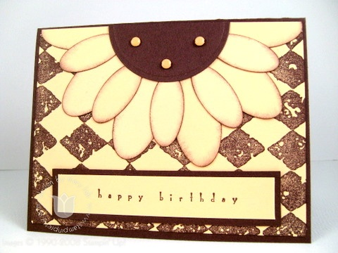 Stampin up sunflower