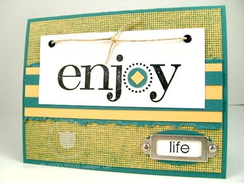 Stampin up enjoy life