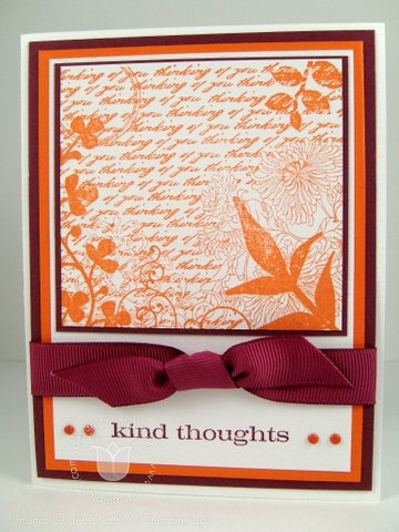 Stampin up kind thoughts