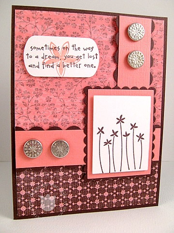 Stampin up styled silver brads