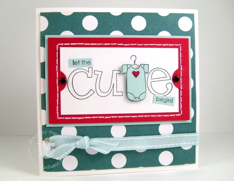 Stampin up baby cute