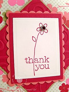 Stampin up ginger thank you close