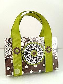 Stampin up au chocolate purse