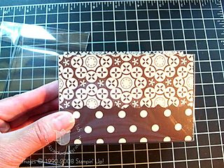 Stampin up au chocolate clear insert