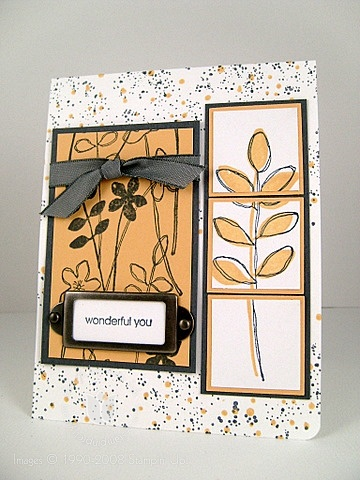 Stampin up wonderful saffron