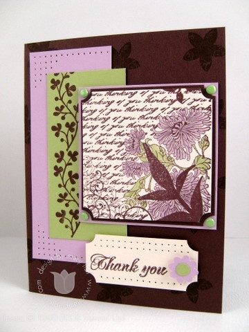Stampin up fresh cuts chocolate
