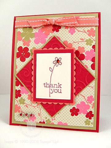 Stampin up ginger thank you