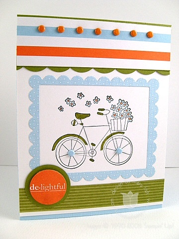 Stampin up delightful bicycle