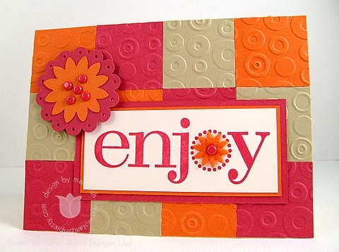 Stampin up enjoy quilt
