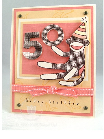 Stampin up sock monkey