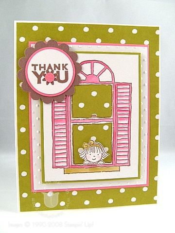 Stampin up window girl