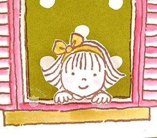 Stampin up window girl close