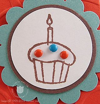 Stampin up wishes cupcake