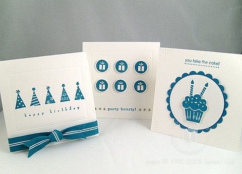 Stampin up party hearty trio