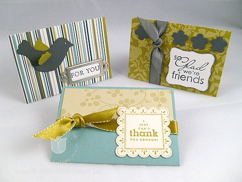 Stampin up scalloped envelope trio