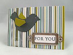 Stampin up scallop envelope bird