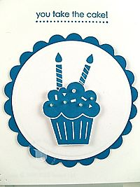 Stampin up party hearty cupcake close