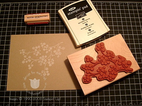 Stampin up faux dry emboss 1
