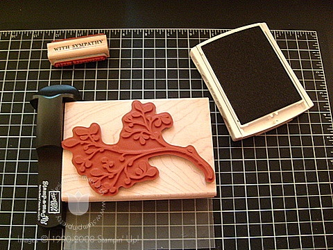 Stampin up faux dry emboss 3