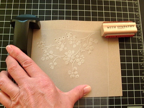 Stampin up faux dry emboss 4