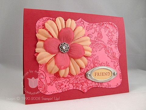 Stampin up belle toile