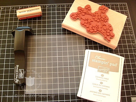 Stampin up faux dry emboss 2