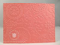 Stampin up floral fantasy embossing