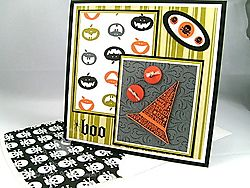 Stampin up scary halloween card