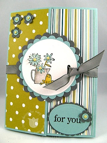 Stampin up frog gate card