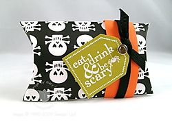 Stampin up scary halloween pillow box