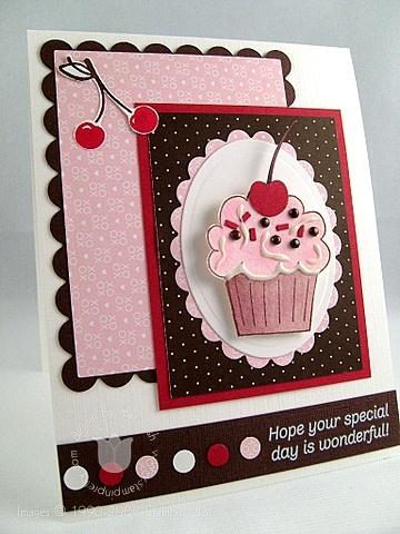 Stampin up crazy cupcake