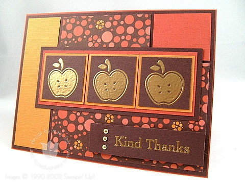 Stampin up golden delicious