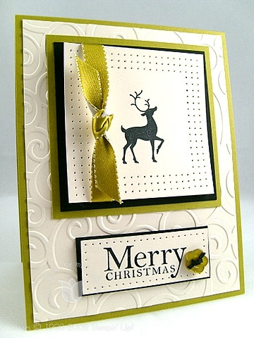Stampin up winter post reindeer