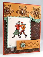 Stampin up winter post card
