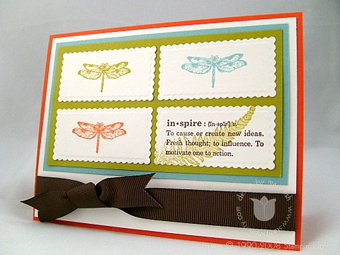 Stampin up organic grace right light