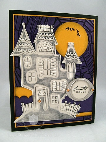 Stampin up cuttlebug haunted house