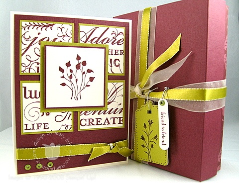 Stampin up pocket silhouettes card and box