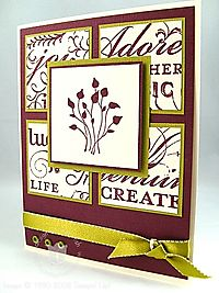 Stampin up pocket silhouettes card