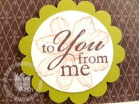Stampin up my sentiments you and me close
