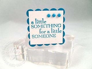 Stampin up my sentiments little something