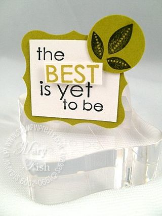 Stampin up my sentiments best yet