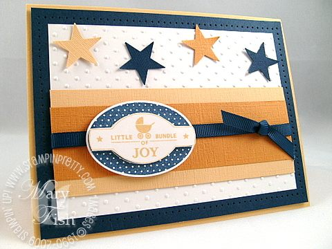 Stampin up punches three navy