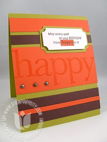 Stampin up school book serif happy
