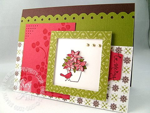 Stampin up flower for all seasons cardinal