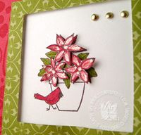 Stampin up flower for all seasons cardinal close