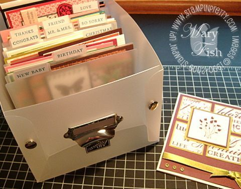 Stampin up memory keeper index