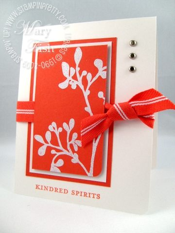 Stampin up tango kindred spirits