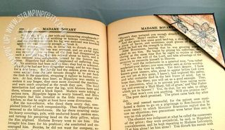 Stampin up bookmark with book