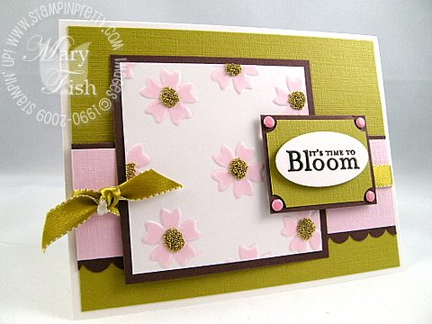 Stampin up pink pirouette eastern blooms