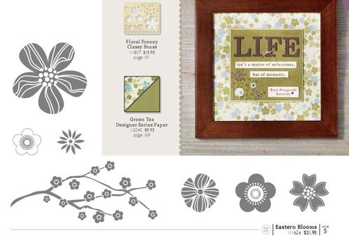Stampin up eastern blooms